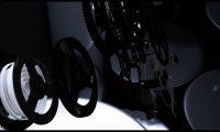 机械齿轮手表空间组合:创意3D机械动画