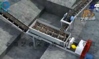 砖厂生产过程3D分拣流水线